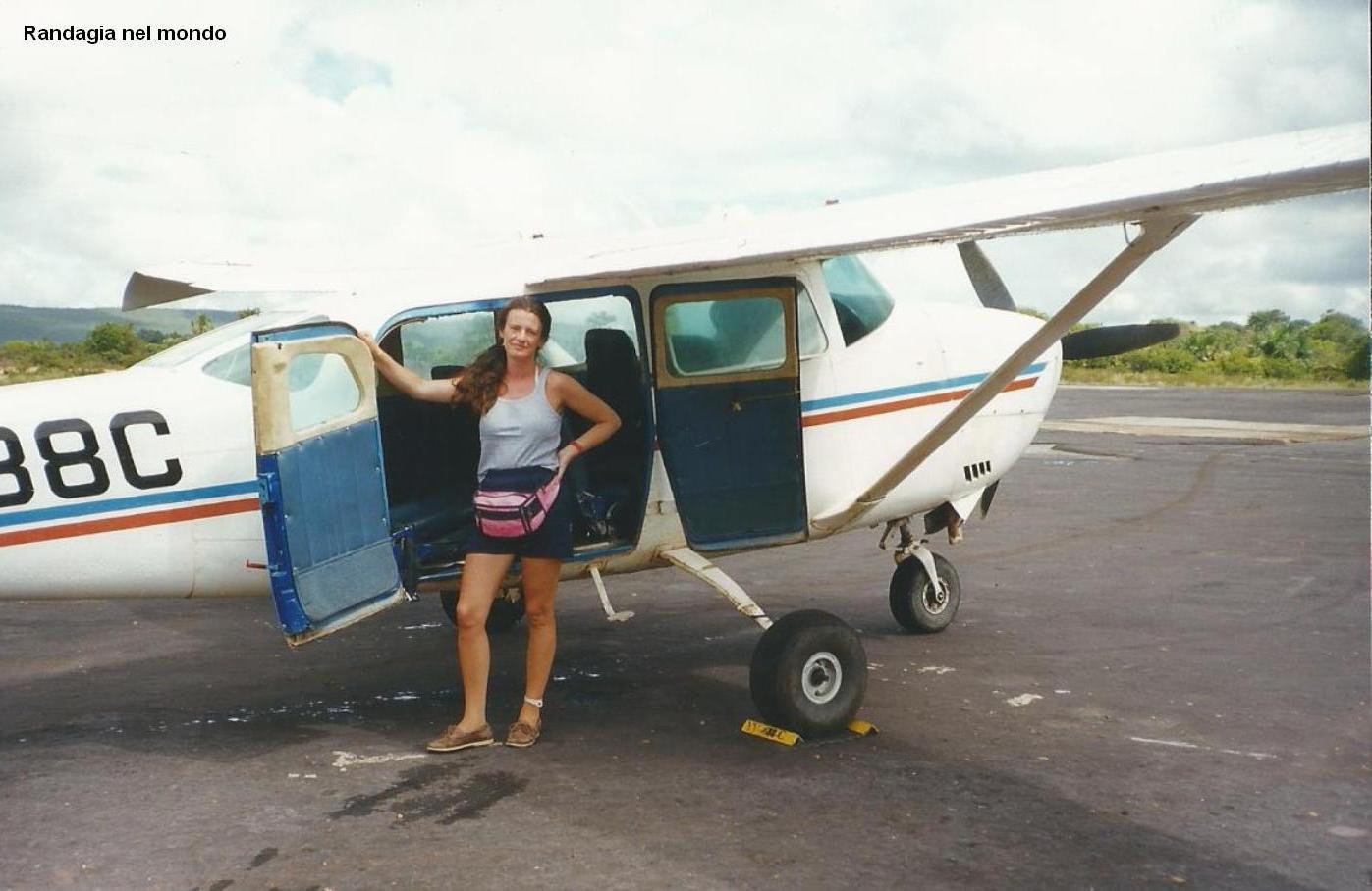 L'aeroplanino che mi ha portato a Canaima da Ciudad Bolivar